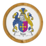 Isaac Family Crest Round Cheeseboard