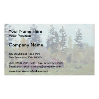 Isaac Levitan- A haystack Double-Sided Standard Business Cards (Pack Of 100)