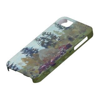 Isaac Levitan- A haystack iPhone 5 Cases