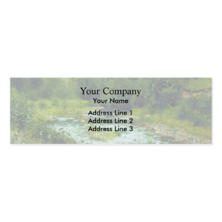 Isaac Levitan- A river Double-Sided Mini Business Cards (Pack Of 20)