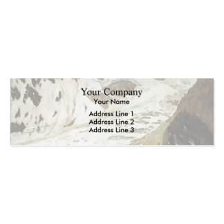 Isaac Levitan- Alps. Snow. Business Cards
