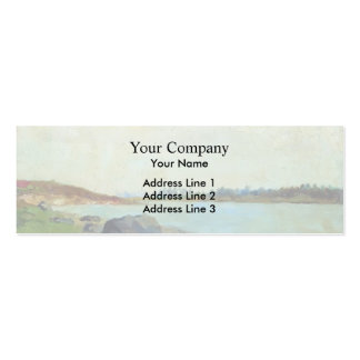 Isaac Levitan- At Moscow-river Double-Sided Mini Business Cards (Pack Of 20)