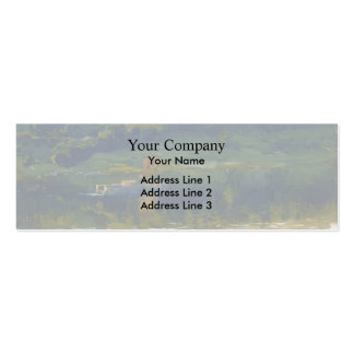 Isaac Levitan- At Volga. Double-Sided Mini Business Cards (Pack Of 20)
