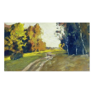 Isaac Levitan-Autumn evening Trail in the forest Business Cards