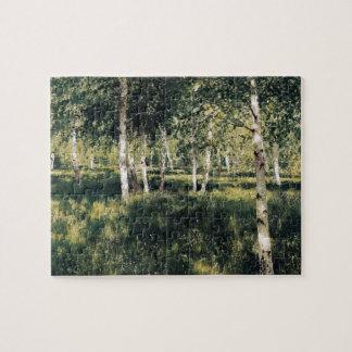 Isaac Levitan- Birch grove Jigsaw Puzzle