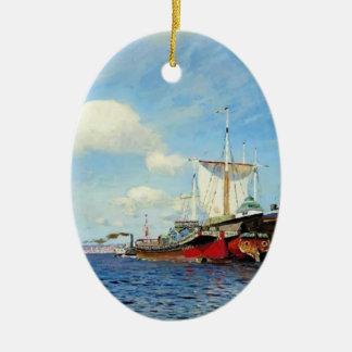 Isaac Levitan- Brisk wind, Volga Ornaments