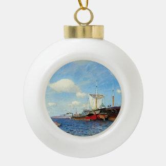 Isaac Levitan- Brisk wind, Volga Ornament