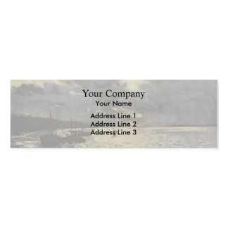 Isaac Levitan- Dull day at Volga Double-Sided Mini Business Cards (Pack Of 20)