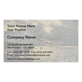 Isaac Levitan- Dull day at Volga Double-Sided Standard Business Cards (Pack Of 100)