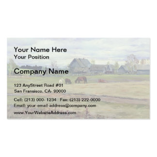 Isaac Levitan- Dull day Double-Sided Standard Business Cards (Pack Of 100)