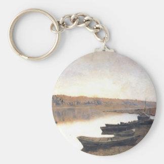 Isaac Levitan- en el río Volga Llaveros