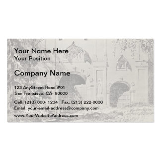 Isaac Levitan-Entrance gate of Savvinsky monastery Business Card Templates