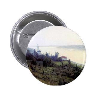 Isaac Levitan- Evening. Golden Plyos. Button