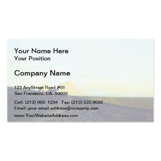 Isaac Levitan- Evening in the field Double-Sided Standard Business Cards (Pack Of 100)