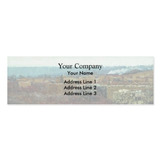 Isaac Levitan- Felling Double-Sided Mini Business Cards (Pack Of 20)