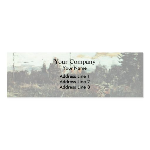 Isaac Levitan- Felling. Firewood. Business Card Templates