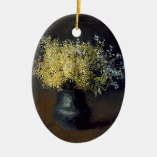 Isaac Levitan- Forest violets and forget-me-nots Christmas Tree Ornament