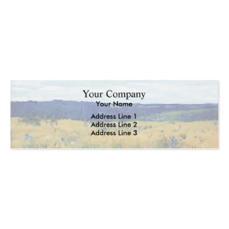 Isaac Levitan- Gray day Double-Sided Mini Business Cards (Pack Of 20)