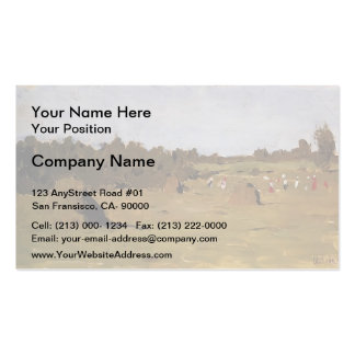 Isaac Levitan- Haymaking Double-Sided Standard Business Cards (Pack Of 100)
