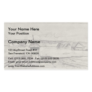 Isaac Levitan- High waters Double-Sided Standard Business Cards (Pack Of 100)
