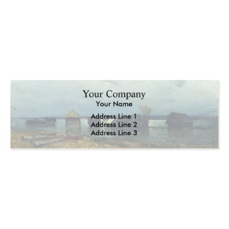 Isaac Levitan- High waters Double-Sided Mini Business Cards (Pack Of 20)