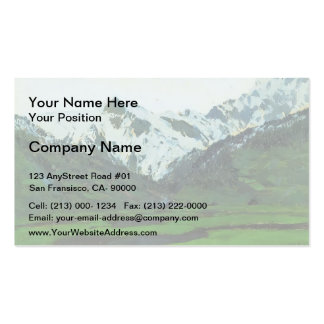 Isaac Levitan- In Alps at spring Business Card Template