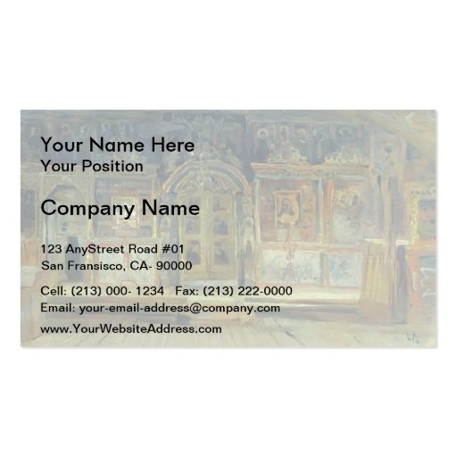 Isaac Levitan- Inside the Peter and Paul Church Business Card Templates
