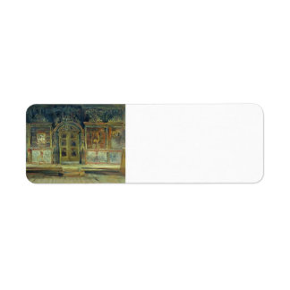 Isaac Levitan- Inside the Peter and Paul Church Return Address Label