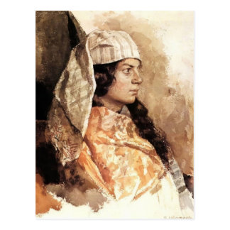 Isaac Levitan- Jewish woman with oriental shawl Postcard
