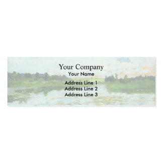 Isaac Levitan- Lake Double-Sided Mini Business Cards (Pack Of 20)