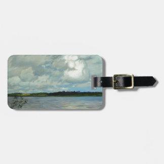Isaac Levitan- Lake. Gray day. Tags For Luggage