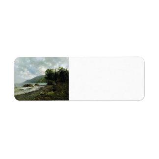 Isaac Levitan- Landscape in Crimea Return Address Label