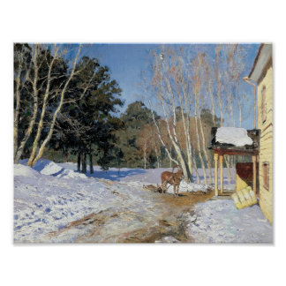 Isaac Levitan- March Poster