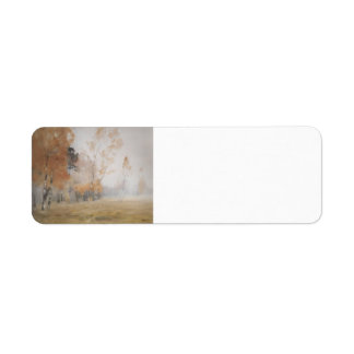 Isaac Levitan- Mist. Autumn. Return Address Label