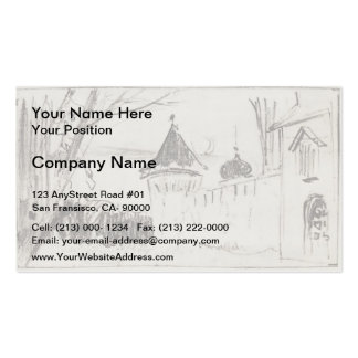 Isaac Levitan- Monastery gate and wall Business Cards