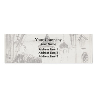 Isaac Levitan- Monastery gate and wall Business Card