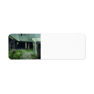 Isaac Levitan- Old yard. Plyos. Return Address Label