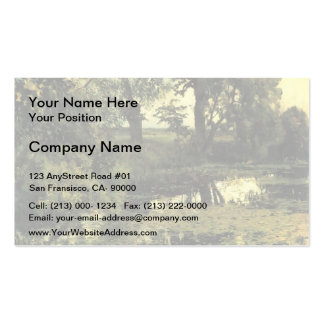 Isaac Levitan- Overgrown pond Double-Sided Standard Business Cards (Pack Of 100)