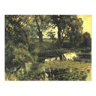 Isaac Levitan- Overgrown pond Postcard