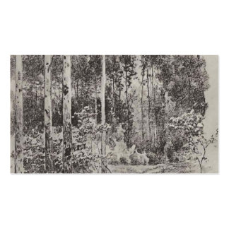 Isaac Levitan- Path in the forest Double-Sided Standard Business Cards (Pack Of 100)