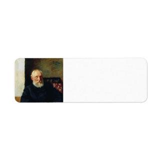Isaac Levitan- Portrait of Nikolay Panafidin. Return Address Label