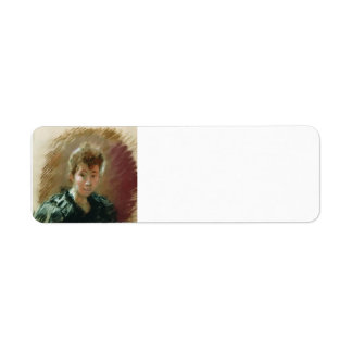 Isaac Levitan- Portrait of Sofia Kuvshinnikov Return Address Label