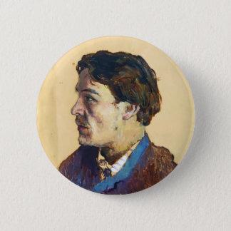 Isaac Levitan- Portrait of writer Anton Chekhov Button
