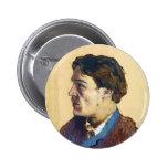 Isaac Levitan- Portrait of writer Anton Chekhov Pinback Button