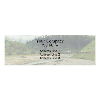 Isaac Levitan- River in the forest Double-Sided Mini Business Cards (Pack Of 20)