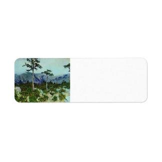 Isaac Levitan- Three pines Return Address Label