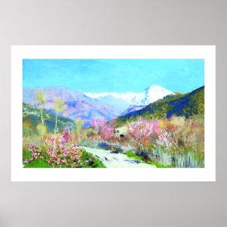 Isaac Levitan Tiempo de primavera que pinta Poster