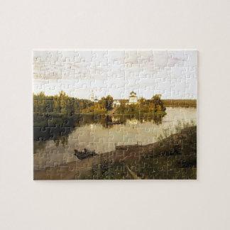 Isaac Levitan- Vesper chimes Jigsaw Puzzle