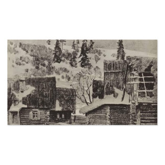 Isaac Levitan- Village Double-Sided Standard Business Cards (Pack Of 100)
