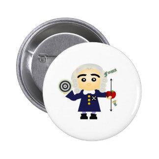 Isaac Newton 2 Inch Round Button